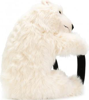 Dolce and Gabbana Polar Bear Plush Backpack In White - ACCESSX
