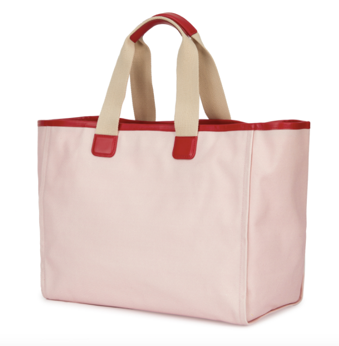 Dolce and Gabbana Pink Canvas Tote Bag - ACCESSX