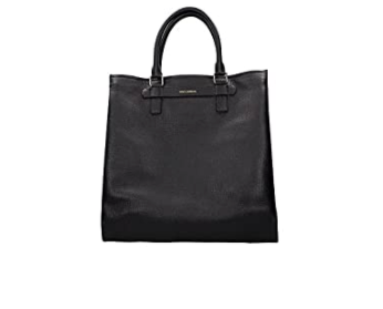 Dolce and Gabbana Mens Black Leather Tote Bag - ACCESSX