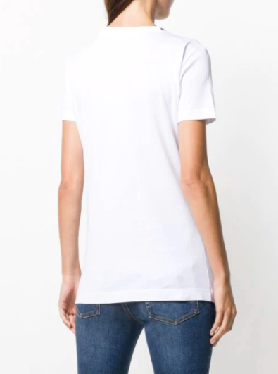 Dolce and Gabbana Womens White Logo T Shirt - ACCESSX