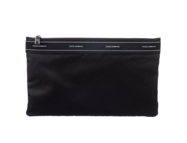 Dolce & Gabbana Satin Band Detail Nylon Clutch - ACCESSX