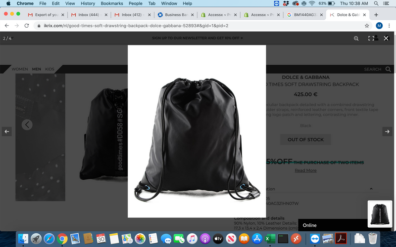 Dolce & Gabbana Good Times Soft String Backpack - ACCESSX
