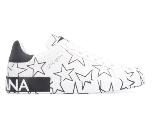 Dolce and Gabbana Mens Leather Star Sneaker - ACCESSX