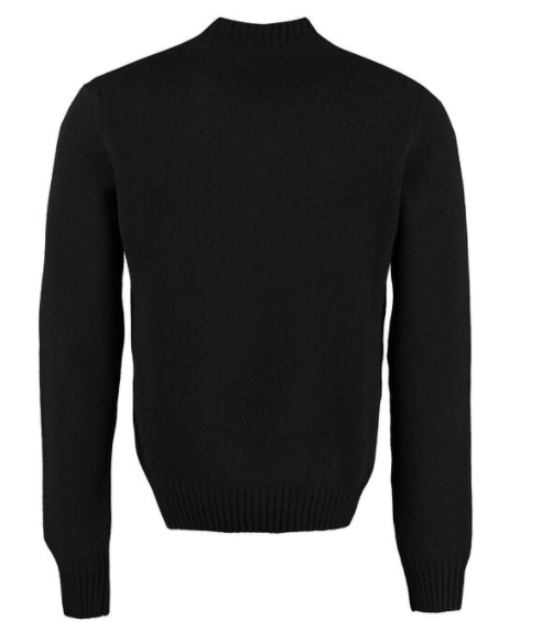 Dolce and Gabbana Mens Logo Wool Sweater - ACCESSX