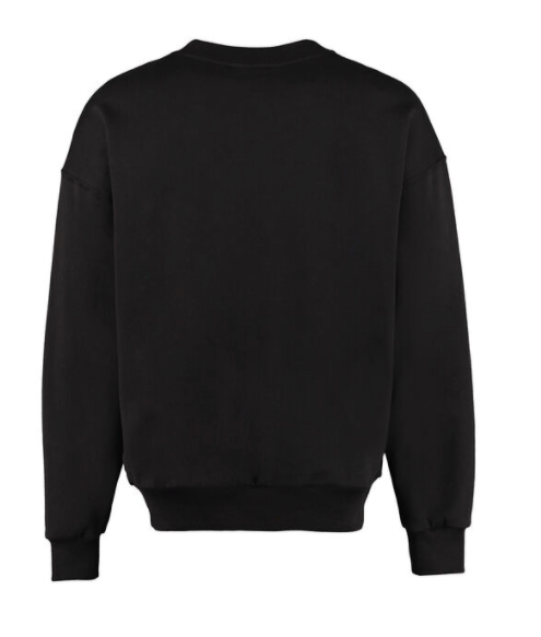 Dolce and Gabbana Mens Black Logo Detail Cotton Sweatshirt - ACCESSX