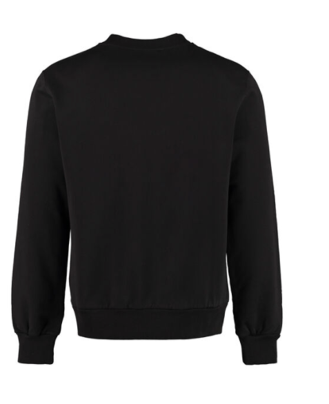 Dolce and Gabbana Mens Black Cotton Crew-Neck Sweatshirt - ACCESSX