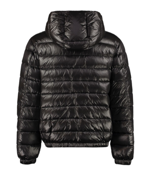 Dolce and Gabbana Mens Black Hooded Short Down Jacket - ACCESSX