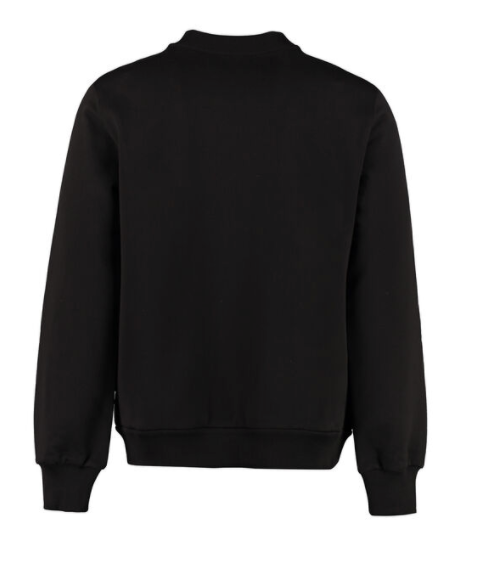 Dolce and Gabbana Womens Black Logo Detail Cotton Sweatshirt - ACCESSX