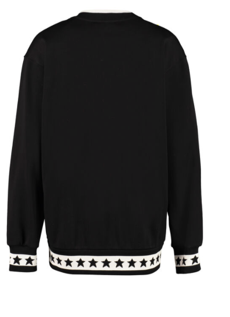 Dolce and Gabbana Womens Black Star Cotton Crew-Neck Sweatshirt - ACCESSX