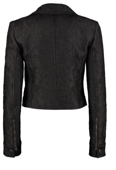 Dolce and Gabbana Womens Black Jacquard Knit Jacket - ACCESSX