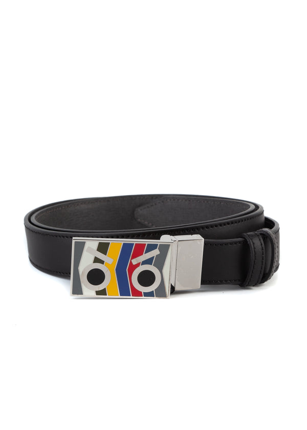Fendi Mens Multicolored Reversible Little Monster Belt - ACCESSX