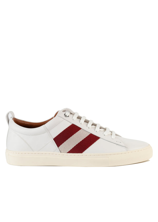 Bally Mens White Helvio Leather Sneakers - Tribeca Fashion House