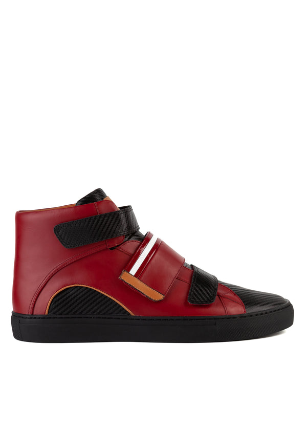 Bally Mens Garnet Herrick Leather High-Top Sneakers - ACCESSX