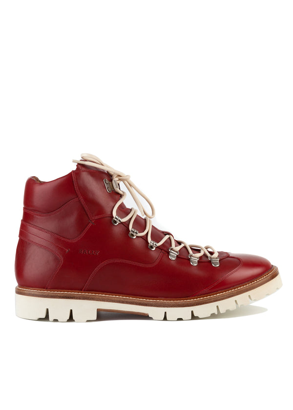 Bally Mens Garnet Charls Leather Hiking Boots - Tribeca Fashion House