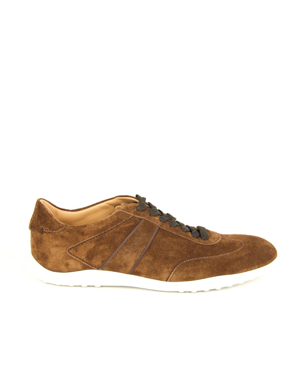 Tod's Suede Trainer Sneakers in Brown - ACCESSX