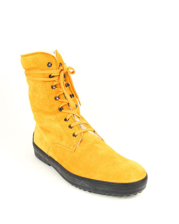 Tod's Mens Combat Boots in Yellow - ACCESSX