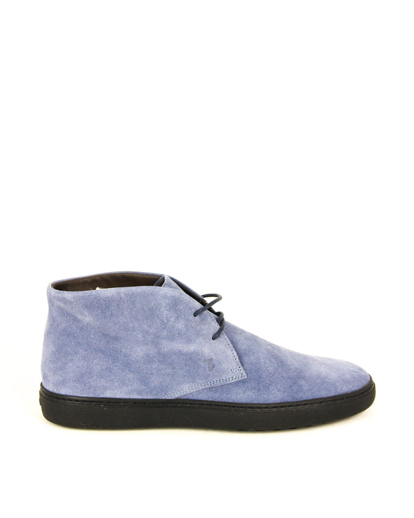Tod's Mens Suede Ankle Boots in Light Blue - ACCESSX
