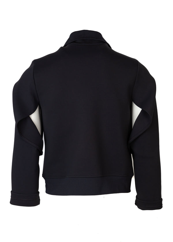 Balenciaga Womens Black Neoprene Bomber - Tribeca Fashion House
