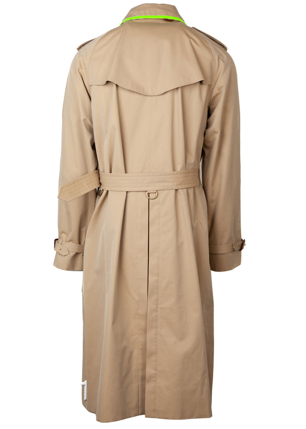 Mens Burberry Cranleigh Neon Trim Double Breasted Trench Coat - Tribeca Fashion House