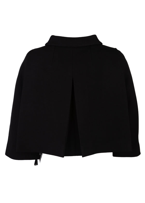 Dolce & Gabbana Womens Black Crystal Daisy Cropped Jacket - Tribeca Fashion House