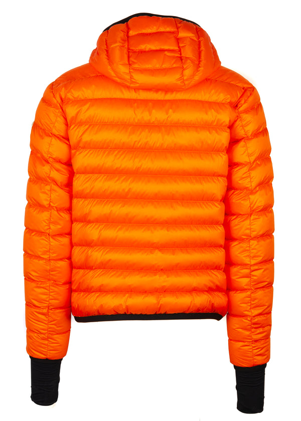 Moncler Mens Orange Grenoble Kavik Padded Jacket - Tribeca Fashion House