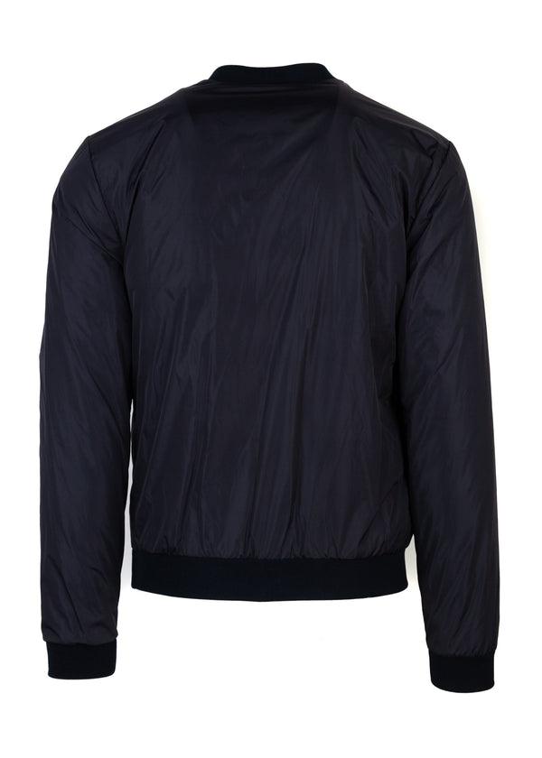 Dolce & Gabbana Mens Navy Bird Patch Bomber - Tribeca Fashion House