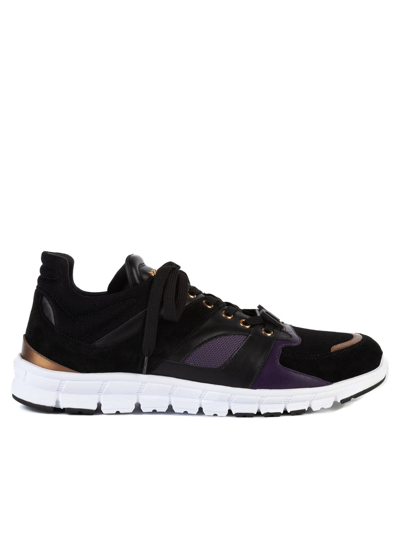 Dolce & Gabbana Mens Black Jamaica Running Lace Up Sneakers - ACCESSX