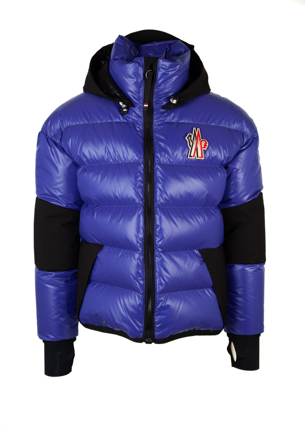 Moncler Mens Blue Grenoble Gollinger Down Filled Jacket - Tribeca Fashion House