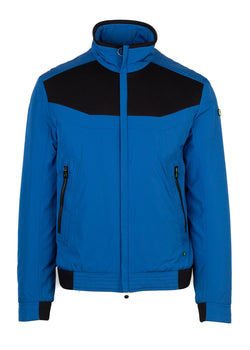 Hugo Boss Green Label Mens Blue Jakes Bomber Jacket - ACCESSX