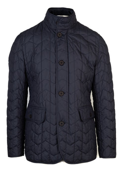 BOSS By Hugo Boss Mens Navy Canehill Quilted Jacket - ACCESSX