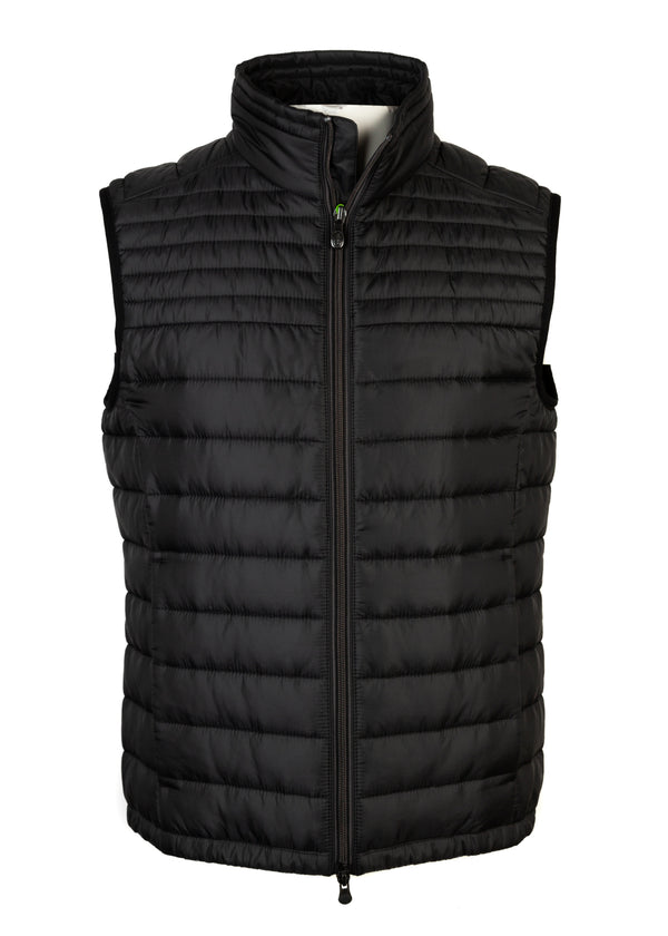 Hugo Boss Mens Black Thermo Veon 1 Golf Gilet Lightweight Vest - ACCESSX