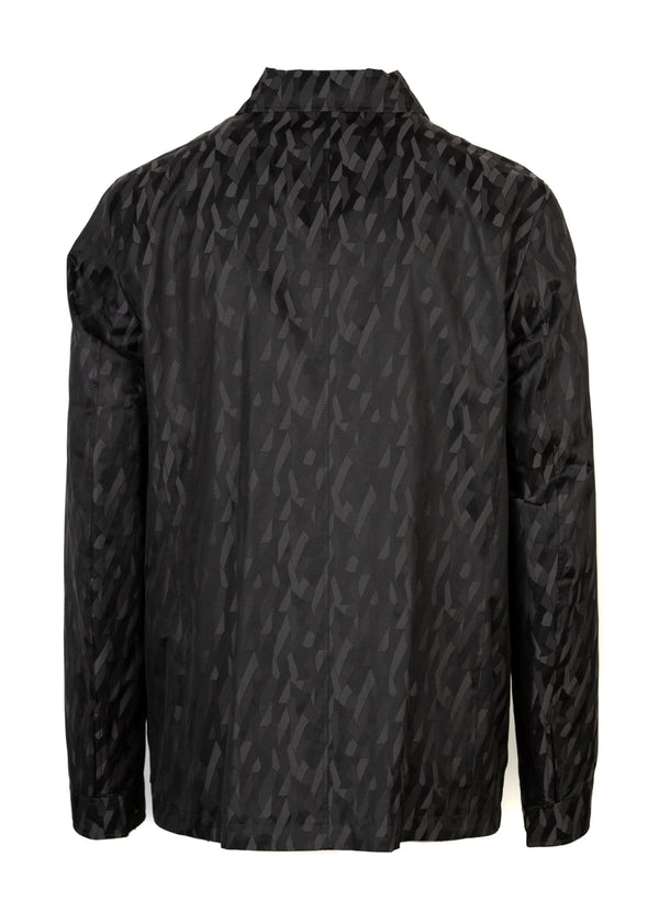 Hugo Boss Mens Grey Clanton Geometric Print Reversible Jacket - Tribeca Fashion House