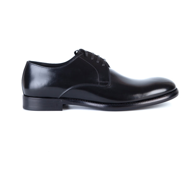 Dolce & Gabbana Mens Black Formal Lace-up Shoes - ACCESSX
