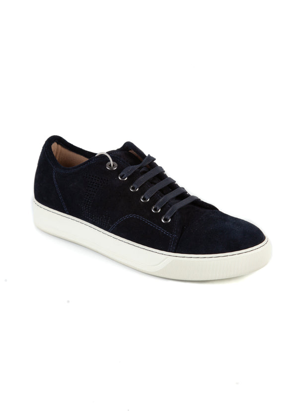 Lanvin Mens Black Nubuck Calfskin Trainers - Tribeca Fashion House