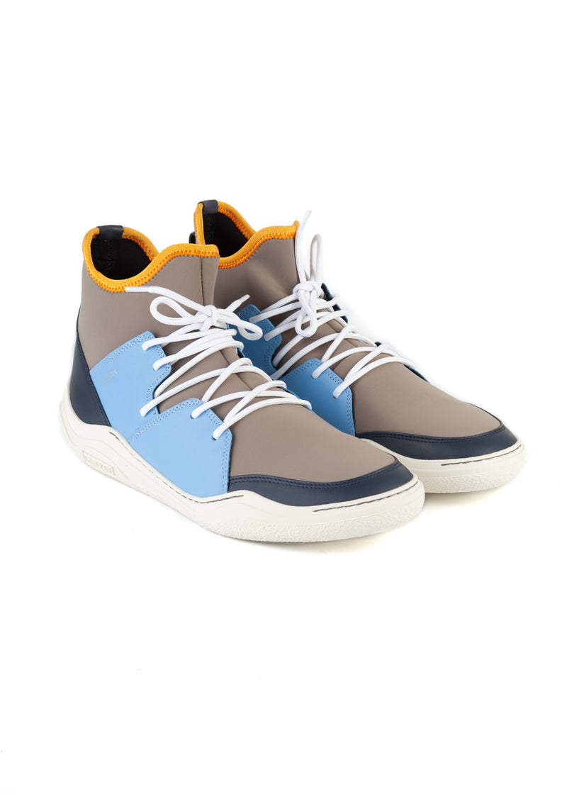 Lanvin Mens Knit Lace Up Neoprene High Top Diving Sneakers - ACCESSX
