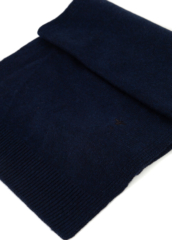 Dior Womens Marine Blue Bee Logo Cashmere Scarf - Tribeca Fashion House