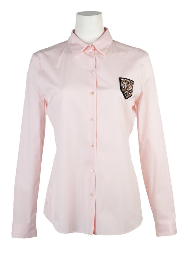 Dior Womens Pink Button Down Top - Tribeca Fashion House