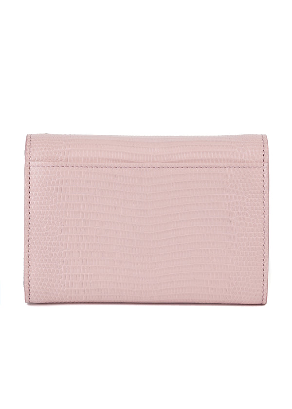 Dolce & Gabbana Women's Pink Textured Leather Trifold Wallet - Tribeca Fashion House