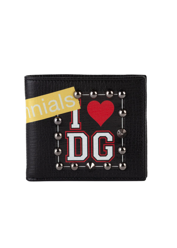 Dolce & Gabbana Mens Black Millennials Bifold Wallet - Tribeca Fashion House