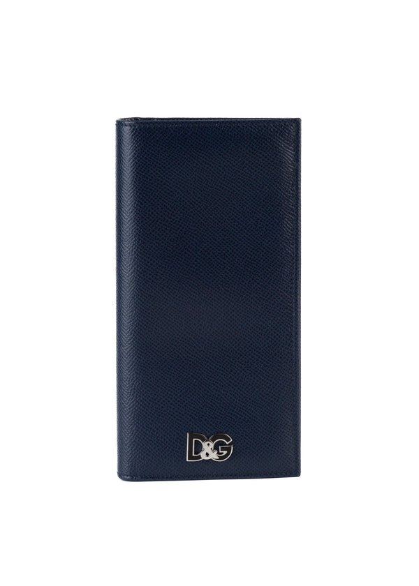 Dolce & Gabbana Women's Navy Textured Leather Wallet - Tribeca Fashion House