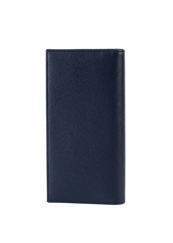 Dolce & Gabbana Womens Navy Textured Leather Wallet - Tribeca Fashion House