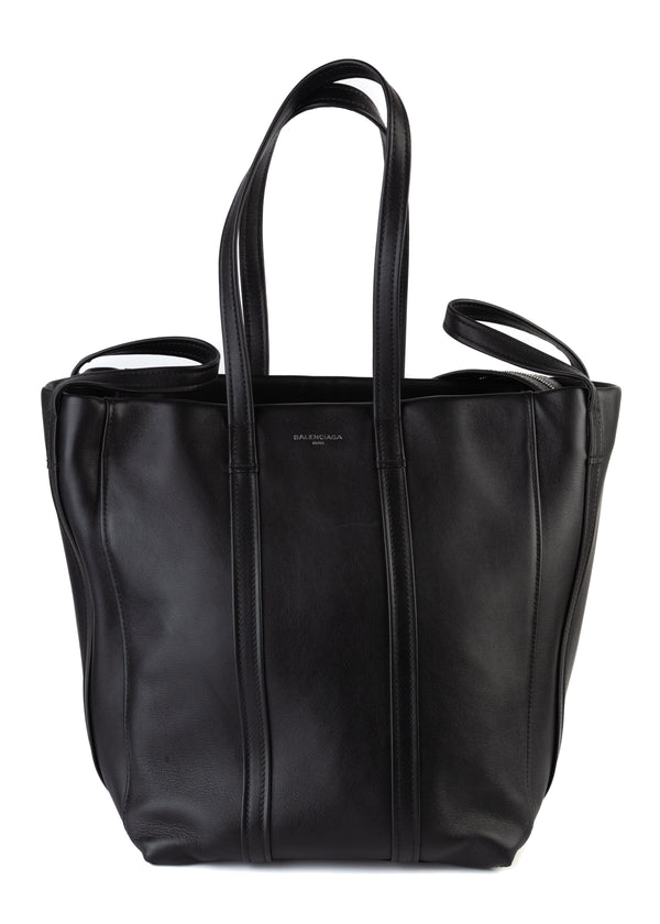 Balenciaga Womens Black Leather Handbag - Tribeca Fashion House