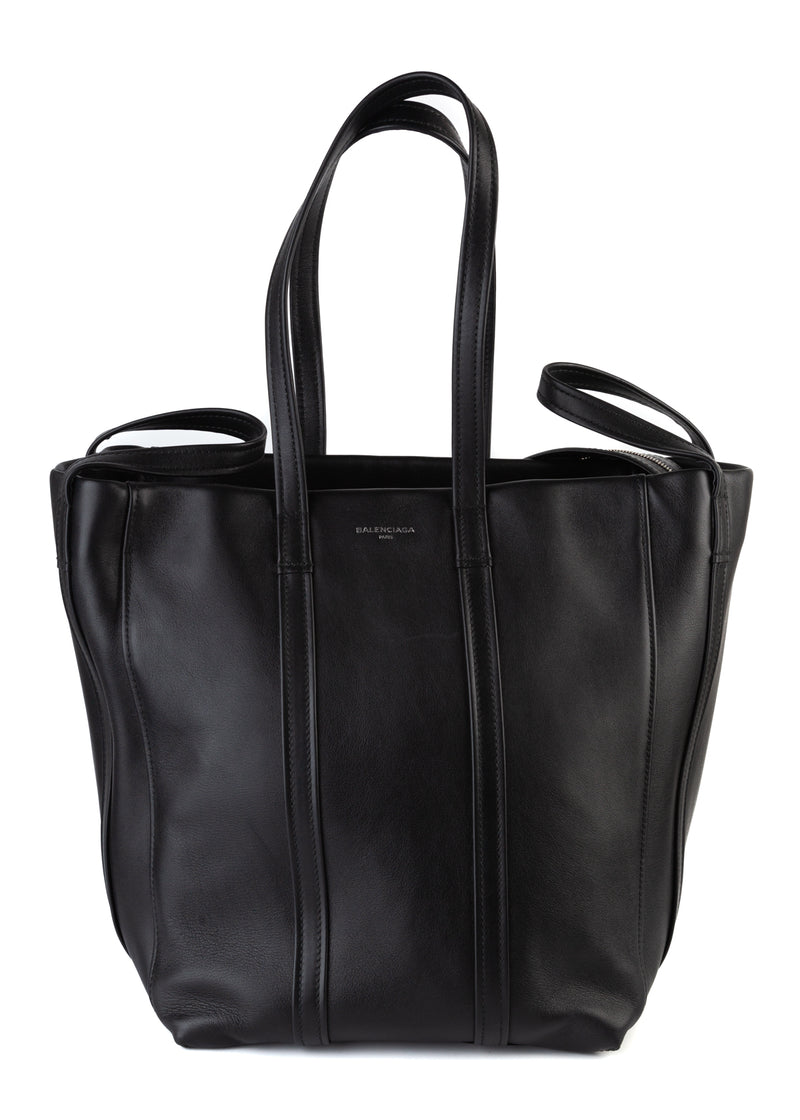 Balenciaga Womens Black Leather Tote - ACCESSX