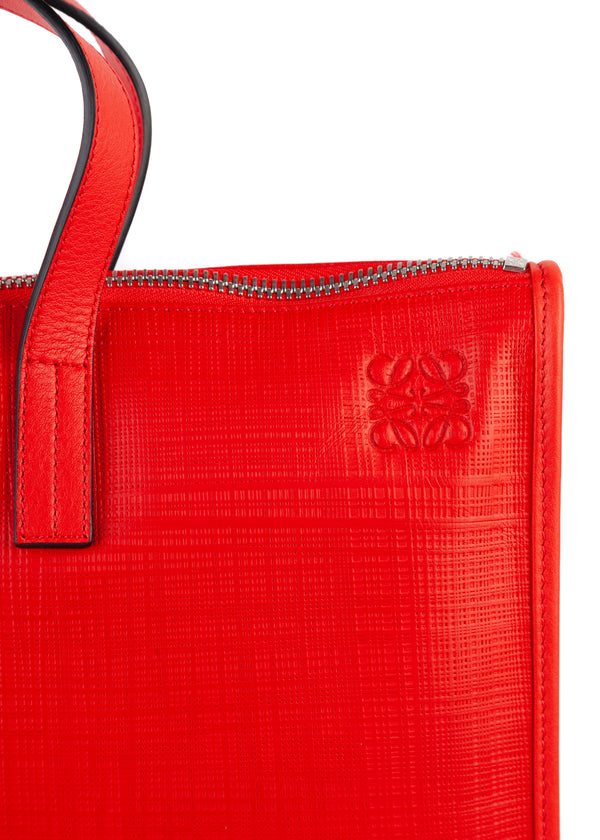 Loewe Women's Red Leather Briefcase Document Bag - Tribeca Fashion House
