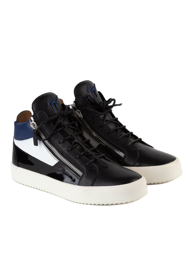 Giuseppe Zanotti Mens Tricolay May London High-Top Leather Sneakers - Tribeca Fashion House
