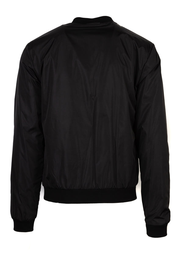 Dolce & Gabbana Mens Black Pistol Embroidered Bomber - Tribeca Fashion House