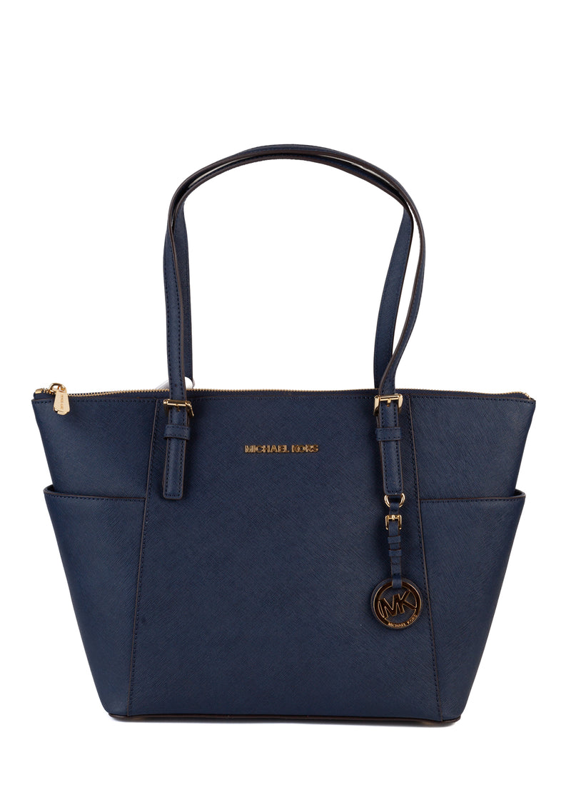 MICHAEL Michael Kors Womens Jet Set East West Saffiano Leather Tote - Tribeca Fashion House