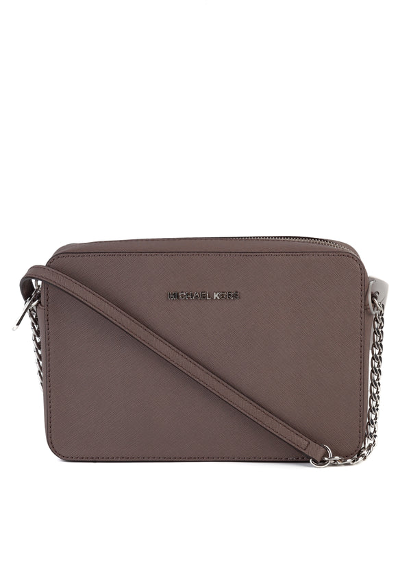 Michael Kors Womens Gray Shoulder Bag With Chain Strap - Tribeca Fashion House