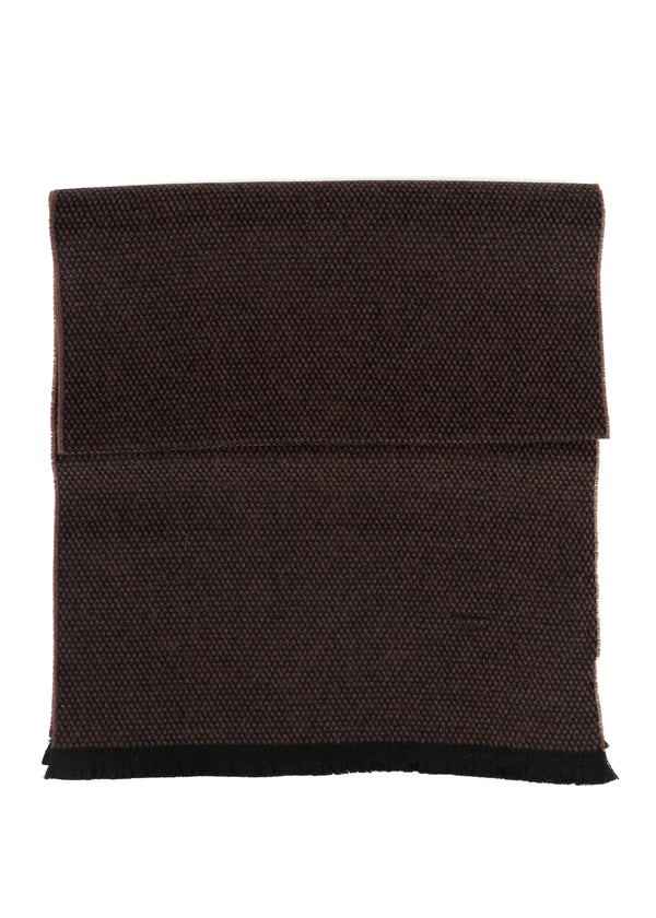 Tom Ford Mens Brown Geometric Pattern100% Cashmere Scarf - Tribeca Fashion House