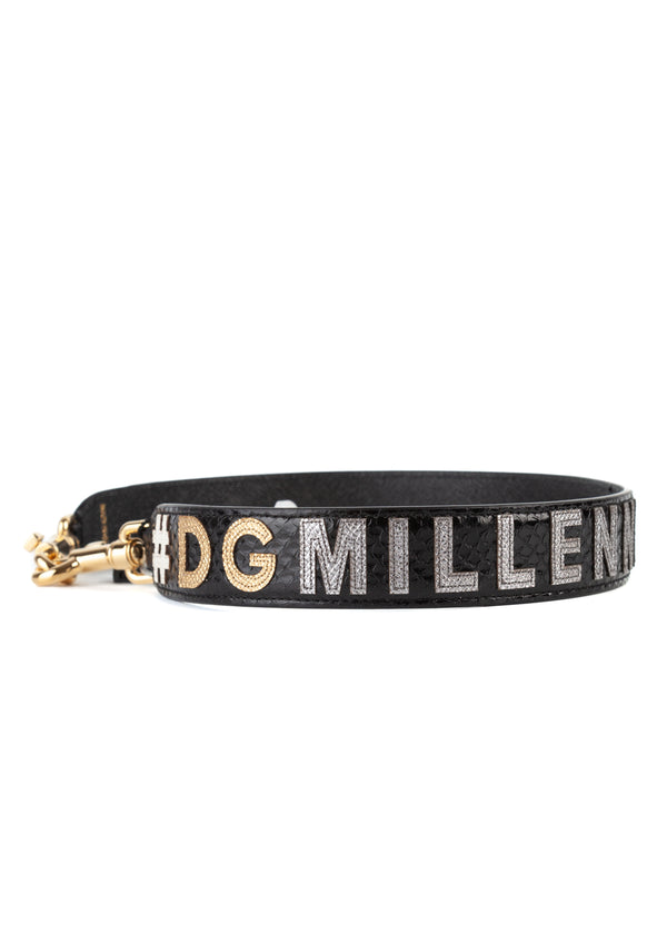 Dolce & Gabbana Womens Black Millennials Shoulder Strap - Tribeca Fashion House